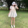 Women's large Summer 2021 white Large L, large XL, s, m, 2XL, 3XL, 4XL singleton  Sweet Short sleeve puff sleeve 18-24 years old Short skirt solar system