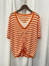 Wool knitwear Summer 2021 Average size Orange, green, black and white stripes other 51% (inclusive) - 70% (inclusive) Other / other