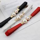 Belt / belt / chain Pu (artificial leather) El102 black, el102 red, el102 white female Waistband leisure time Single loop a hook soft surface 1.5cm alloy Tightness
