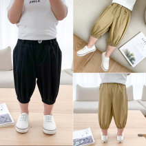 trousers McCarthy male 80cm,90cm,100cm,110cm,120cm,130cm Black, Khaki summer shorts leisure time There are models in the real shooting Casual pants Leather belt middle-waisted cotton Open crotch Chinese Mainland Zhejiang Province Huzhou City