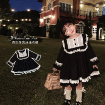Dress Black, black (pre-sale) female Yoehaul / youyou 73cm,80cm,90cm,100cm,110cm,120cm,130cm,140cm Other 100% spring and autumn lady Long sleeves other Cotton blended fabric other 12 months, 9 months, 18 months, 2 years old, 3 years old, 4 years old, 5 years old, 6 years old Chinese Mainland