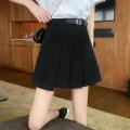 Women's large Summer 2021 black Large L (100-120 kg recommended), large XL (120-140 kg recommended), large XXL (140-160 kg recommended), large XXXL (160-180 kg recommended), large XXXXL (180-200 kg recommended) skirt singleton  thin MG9196 91% (inclusive) - 95% (inclusive) Short skirt Pleated skirt