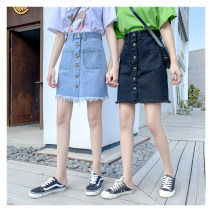 Women's large Summer 2021 Blue, black skirt singleton  commute easy thin Korean version 25-29 years old 81% (inclusive) - 90% (inclusive) Short skirt shorts
