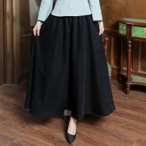 skirt Winter 2020 Average size black Mid length dress grace Natural waist A-line skirt Type A 18-24 years old 51% (inclusive) - 70% (inclusive) other cotton 351g / m ^ 2 (including) - 400g / m ^ 2 (including)