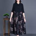 Middle aged and old women's wear Autumn 2020 black L,XL,2XL,3XL,4XL,5XL commute singleton  Decor Retro