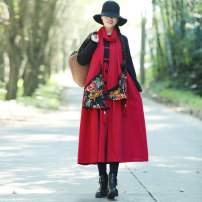 Scarf / silk scarf / Shawl other Black, red winter female rectangle 35cm