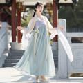 Hanfu 31% (inclusive) - 50% (inclusive) Spring 2021 Shangru, xiaskirt, Hezi and silk S,M,L polyester fiber