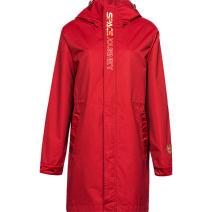 Sports windbreaker female B491092 Guirenniao -1 magma, - 2 Black S(160/84A),M(165/88A),L(170/92A),XL(175/96A),2XL(180/100A),XS(155/80A),3XL(185/104A) Detachable cap zipper Brand logo nylon Sports life Waterproof, breathable, wear resistant