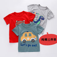 T-shirt Other / other neutral No season Short sleeve Crew neck Cartoon There are models in the real shooting nothing cotton Cartoon animation Cotton 95.2% polyurethane elastic fiber (spandex) 4.8% Class B Sweat absorption Chinese Mainland Zhejiang Province Wenzhou City