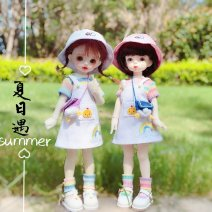 BJD doll zone suit 1/6 Over 14 years old goods in stock A white strap skirt, 1 color short sleeve, 2 color short sleeve, 3 color short sleeve, 1 color socks, 2 color socks, 3 color socks