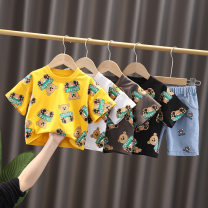 suit Other / other White, yellow, black, brown 80cm,90cm,100cm,110cm,120cm currency summer Korean version Two piece set Thin money No model Cartoon animation cotton kaka-2160 Class A 3 years old Chinese Mainland