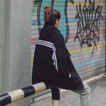 Sweater / sweater Spring 2020 black Plush Long sleeves Medium length Cardigan singleton  Plush Hood easy street routine 18-24 years old 51% (inclusive) - 70% (inclusive) cotton t982181 Drawstring, zipper, thread, pocket cotton zipper Sports & Leisure