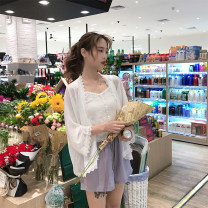 Lace / Chiffon Summer of 2018 Sun shirts, shorts, suspenders Average size commute Cardigan Straight cylinder 18-24 years old Other / other Korean version 51% (inclusive) - 70% (inclusive) polyester fiber