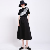 Fashion suit Spring 2021 S,M,L black 25-35 years old Other / other 1413 set 51% (inclusive) - 70% (inclusive) cotton