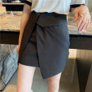 skirt Spring 2021 S,M,L,XL Short skirt commute High waist Irregular Solid color Type A 25-29 years old More than 95% Silk and satin polyester fiber Korean version 181g / m ^ 2 (including) - 200g / m ^ 2 (including)