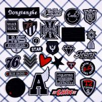 Cloth stickers DIY Geometric pattern