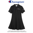 Dress Summer 2021 White, black, pink, gray S,M,L,XL Mid length dress singleton  Short sleeve street Polo collar High waist Solid color Three buttons A-line skirt shirt sleeve Others Type A CHAMPION Embroidery, embroidery More than 95% cotton Sports & Leisure