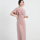 Dress Summer of 2019 Black, white, pink XS,S,M,L Mid length dress singleton  Short sleeve commute High waist Solid color pagoda sleeve 18-24 years old Type H D560 91% (inclusive) - 95% (inclusive) polyester fiber
