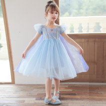 Dress Blue skirt (detachable with cape), set one, set two, set three, set four, set five, set six, set seven female Other / other 100cm,110cm,120cm,130cm,140cm,150cm Cotton 80% other 20% summer princess Short sleeve Solid color cotton A-line skirt Class B 7, 8, 3, 6, 2, 11, 5, 4, 10, 9, 12