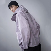 Jacket UNIQLO / UNIQLO Youth fashion White, black, smoke grey XS,S,M,L,XL,2XL routine standard Other leisure spring Polyester 100% Long sleeves Wear out Hood tide youth routine Single breasted 2021 Closing sleeve polyester fiber Double pockets polyester fiber More than 95%