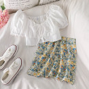 Fashion suit Summer 2020 S. M, l, average size Jacket, oil painting skirt 18-25 years old 51% (inclusive) - 70% (inclusive)