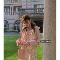 Fashion suit Spring 2021 Average size Sling, dress, pink cardigan 18-25 years old