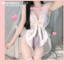 Nightdress Dirty rabbit Light blue, black, light pink Average size Mesh fabric
