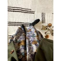 skirt Winter of 2019 S,M,L Decor, decor pre-sale Mid length dress Retro High waist A-line skirt Broken flowers Type A 18-24 years old