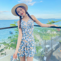 one piece  other S [recommended 80-90 kg], m [recommended 90-100 kg], l [recommended 100-110 kg], XL [recommended 110-120 kg] Skirt one piece With chest pad without steel support Polyester, others female Sleeveless Casual swimsuit other