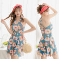 one piece  other L [recommended 90-110 kg], XL [recommended 110-125 kg], XXL [recommended 125-140 kg] Skirt one piece With chest pad without steel support Polyester, others female Sleeveless Casual swimsuit other