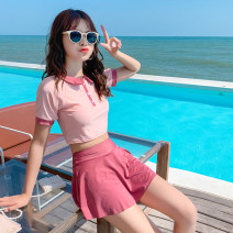 Split swimsuit other Cherry Pink 12961, green 12961, blue 12961 S [recommended 80-90 kg], m [recommended 90-100 kg], l [recommended 100-110 kg], XL [recommended 110-120 kg] Skirt split swimsuit With chest pad without steel support Polyester, others female