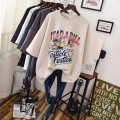 T-shirt Big size average Spring of 2019 Short sleeve Crew neck easy Medium length routine street cotton 96% and above literature Cartoon, letter, solid color printing Europe and America