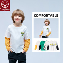 T-shirt Yobeyi / youbeiyi 90cm 100cm 110cm 120cm 130cm 140cm 150cm 160cm neutral spring and autumn Long sleeves Crew neck leisure time There are models in the real shooting nothing Pure cotton (100% cotton content) Cartoon animation Cotton 100% Class A Autumn 2020