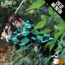 Cosplay women's wear suit goods in stock Over 14 years old Zaomen tanzhilang clothing accessories set, tanzhilang props (big knife without scabbard), zaomen tanzhilang wig, coat + leg protection + accessories, uniform coat + pants + socks, tattoo stickers: forehead scars, clogs Succulent King Japan