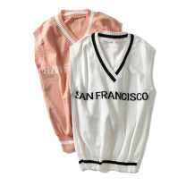 Wool knitwear Autumn of 2018 Average size Pink sweater, white sweater Sleeveless Socket other 31% (inclusive) - 50% (inclusive) Regular commute routine C40-6578