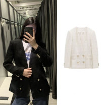 short coat Spring 2021 XS,S,M,L White, black Long sleeves routine Straight cylinder double-breasted XU ZARA UR