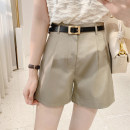 Casual pants khaki S/26,M/27,L/28 Spring 2021 shorts Straight pants High waist commute routine 25-29 years old 71% (inclusive) - 80% (inclusive) K0826 IMFLY polyester fiber Korean version polyester fiber