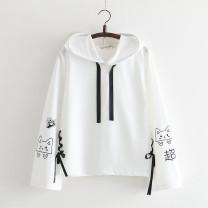 Sweater / sweater Autumn of 2018 M, L Long sleeves singleton  routine Hood cotton