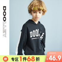 Sweater / sweater Dooley / Duoli Red and black male 120cm 130cm 140cm 150cm 160cm spring and autumn No detachable cap leisure time Socket routine There are models in the real shooting cotton other Cotton 80% polyester 20% Class B Autumn of 2019
