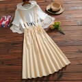 skirt Summer of 2019 Mid length dress Versatile Natural waist A-line skirt Solid color Type A 18-24 years old 51% (inclusive) - 70% (inclusive) other hemp Pocket, strap
