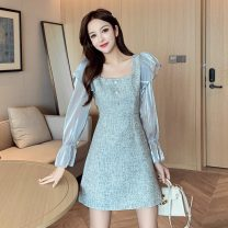 shirt Gray, collect and buy with gift S,M,L,XL Autumn 2020 other 31% (inclusive) - 50% (inclusive) Long sleeves commute Regular square neck routine Self cultivation Korean version Button, button