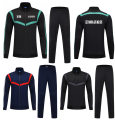 Football clothes Suit black with green, suit royal blue with red, suit black with gray, single coat royal blue with red, single coat black with green, single coat black with gray XXXL,XXL,XL,L,M,S,XS,XXS,XXXS male Light board Drop off (match Kit) Long suit Home court ninety point five