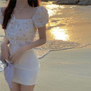 Fashion suit Summer 2021 S, M Floral top, white skirt 18-25 years old 4.6B