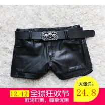 Casual pants Black [upgrade with velvet for belt], pendant 002 [upgrade with velvet], 001 [thin without velvet] no belt S,M,L,XL,2XL,3XL Winter 2020 shorts Pencil pants Natural waist commute routine 18-24 years old 81% (inclusive) - 90% (inclusive) PU leather Ol style pocket