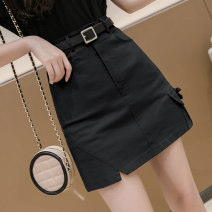 skirt Summer 2021 S M L XL Black Khaki apricot Short skirt Versatile High waist A-line skirt Solid color Type A 18-24 years old 81% (inclusive) - 90% (inclusive) other Nonsar / ningsa polyester fiber zipper Polyester 90% other 10% Pure e-commerce (online only)