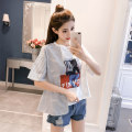 T-shirt Picture color SMLXL Summer of 2018 Short sleeve Crew neck easy Regular pagoda sleeve commute 18-24 years old Korean version originality character Nonsar / ningsa NS8086 Other 100% Pure e-commerce (online only)