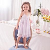 Home skirt / Nightgown ROSE TREE 90cm,100cm,110cm,120cm,130cm,140cm,XS,S,M,L,XL Polyamide fiber (nylon) 90% polyurethane elastic fiber (spandex) 10% Light purple, soft pink summer female 3-5 years old Class A t17015