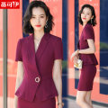 Professional dress suit S M L XL XXL XXXL 4XL Summer 2021 Short sleeve DKYWYE-1882D Coat other styles Suit skirt 18-25 years old Tikoy Polyester 98% polyurethane elastic fiber (spandex) 2% Pure e-commerce (online only) 96% and above polyester fiber