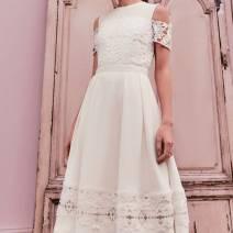 Dress Autumn 2020 Black, white 1-UK8,4-UK14,3-UK12,2-UK10,5-UK16,0-UK6 Sweet High waist