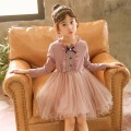 Dress Bow Skirt Pink Purple, bow skirt bean green, bow Skirt Pink Purple Plush, bow skirt Bean Green Plush female Other / other Cotton 80% other 20% spring and autumn princess cotton A-line skirt Chinese Mainland